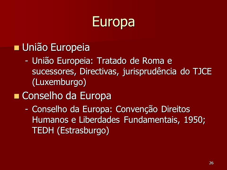 Europa União Europeia Conselho da Europa