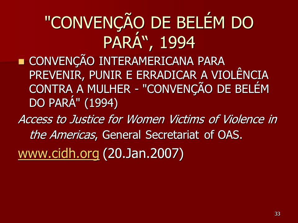 CONVENÇÃO DE BELÉM DO PARÁ , 1994