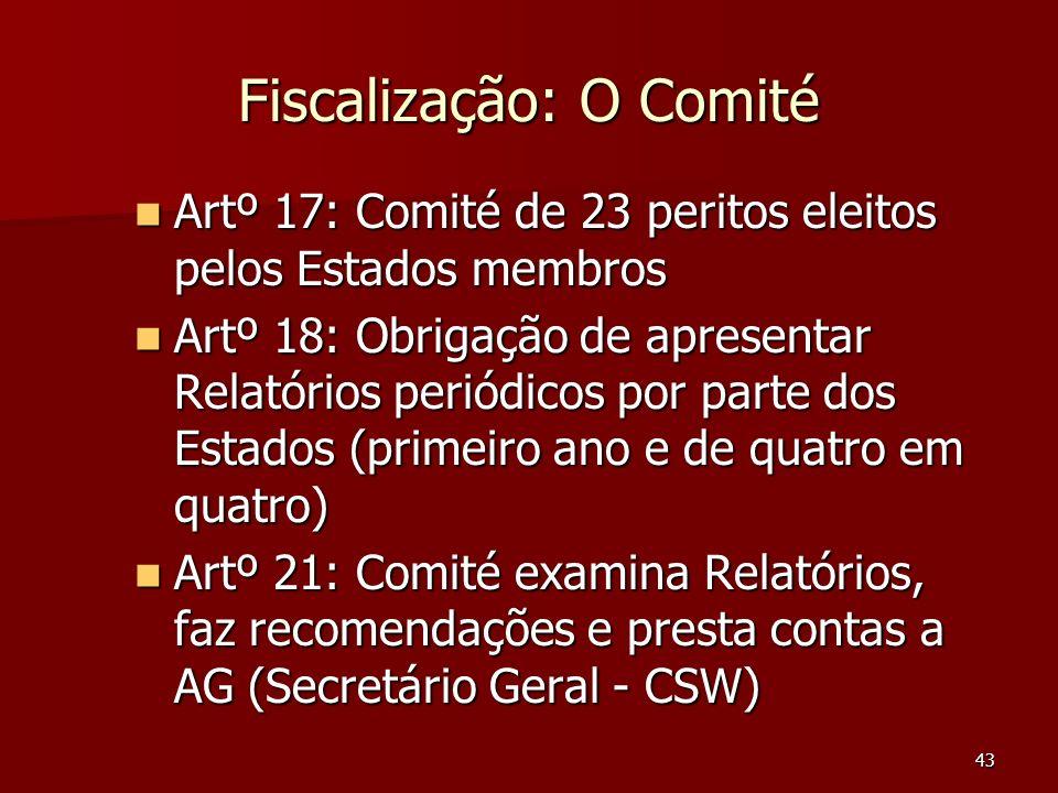 Fiscalização: O Comité