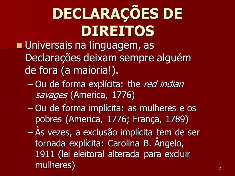 DECLARAÇÕES DE DIREITOS