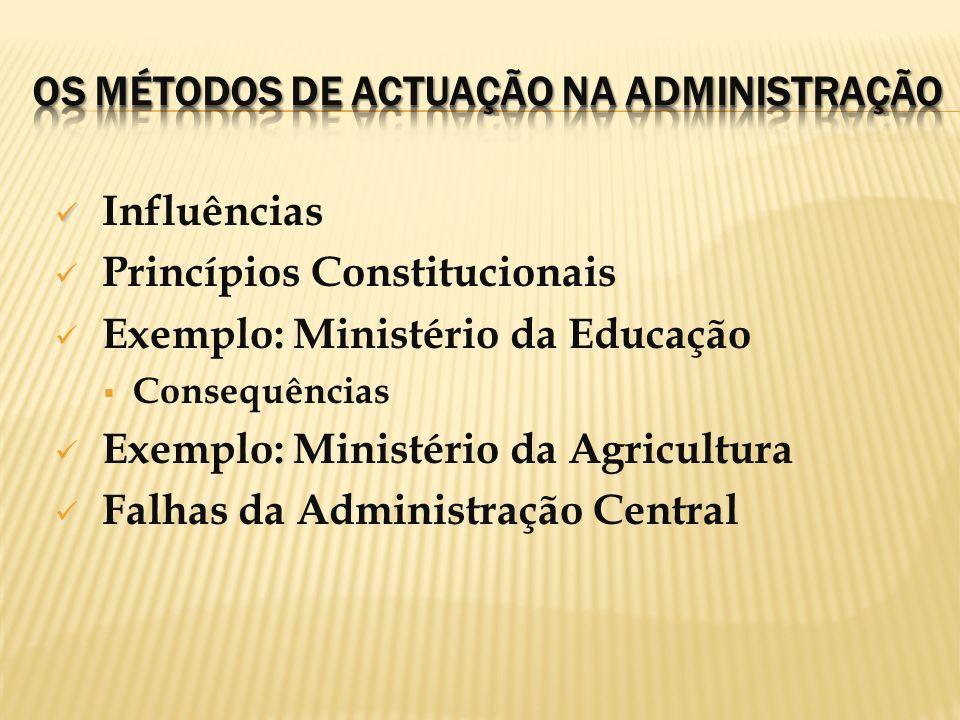 Os Métodos de Actuação na Administração