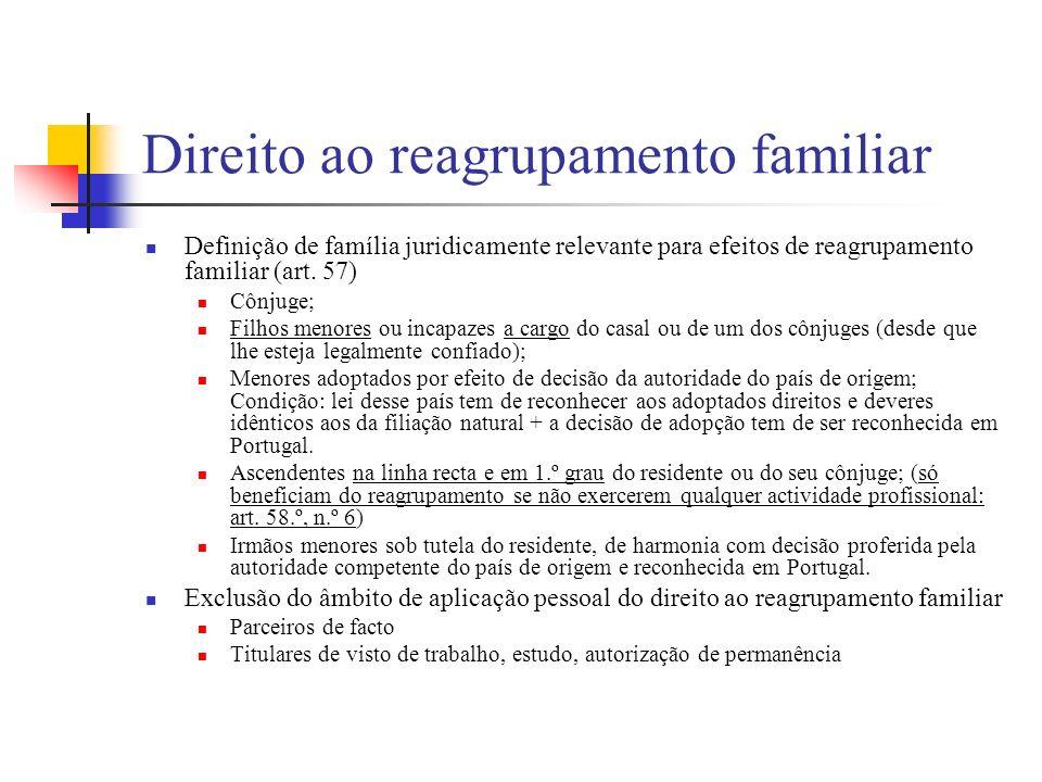 Direito ao reagrupamento familiar