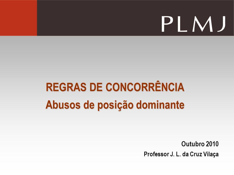 REGRAS DE CONCORRÊNCIA Abusos de posição dominante