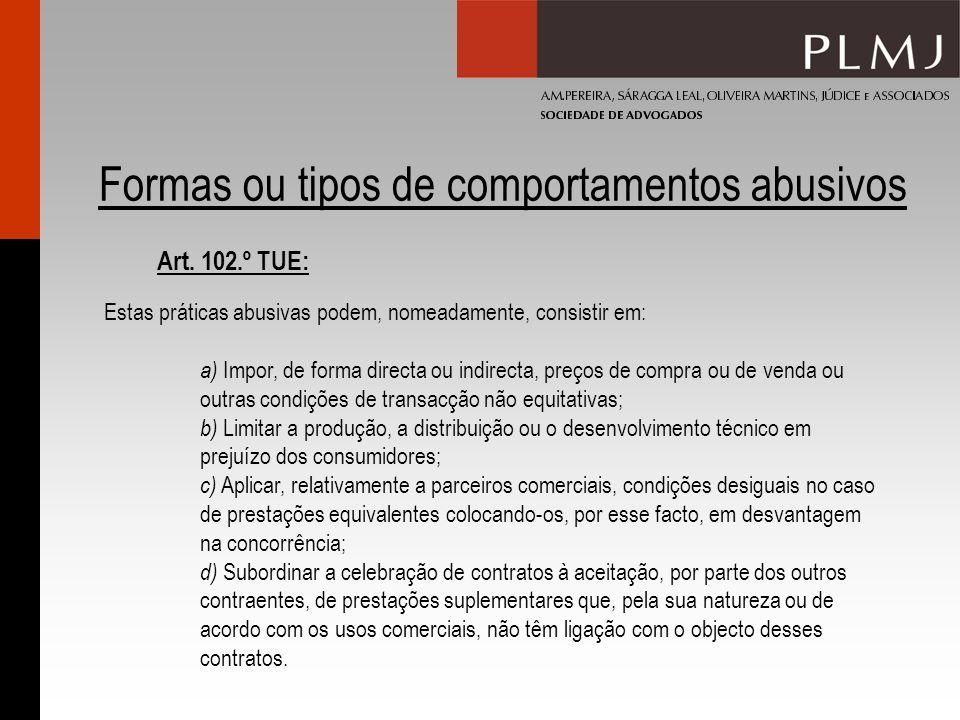 Formas ou tipos de comportamentos abusivos