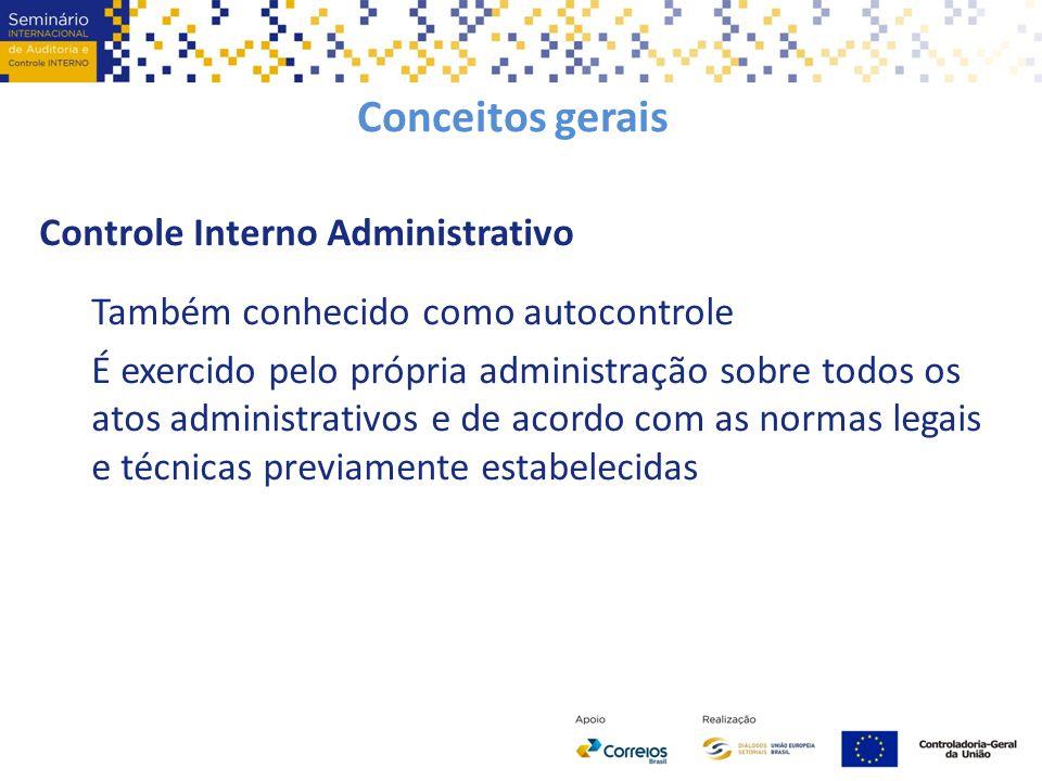 Conceitos gerais Controle Interno Administrativo