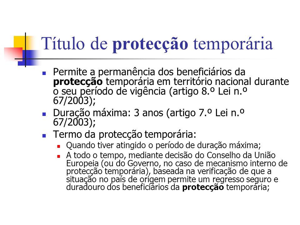 Título de protecção temporária
