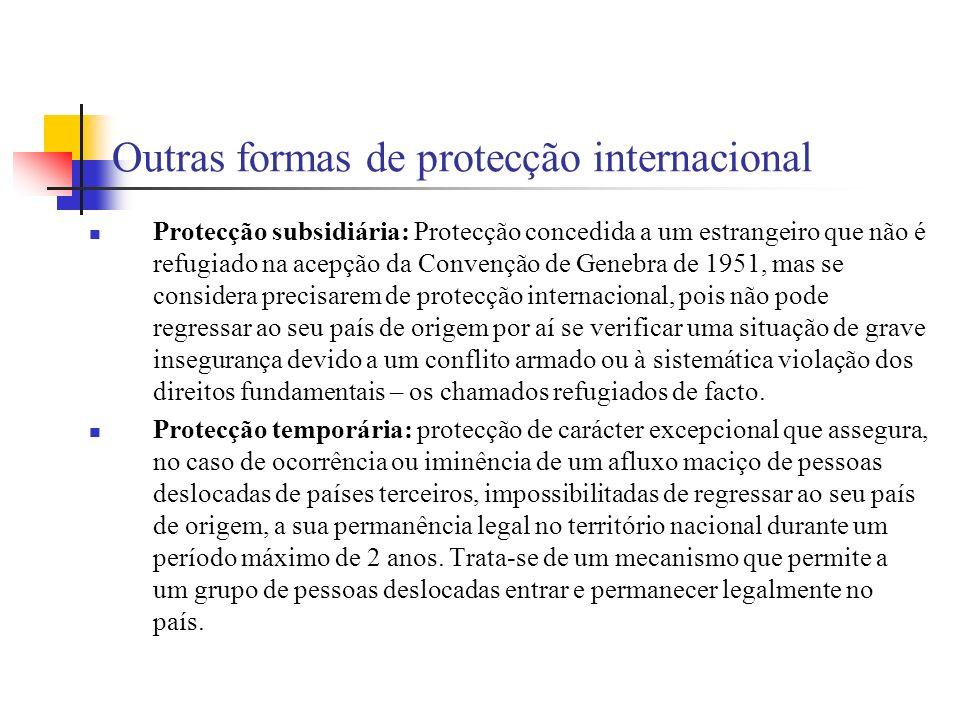 Outras formas de protecção internacional