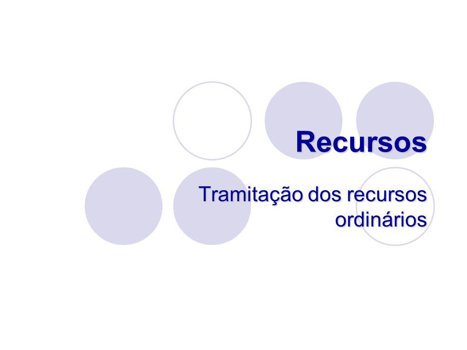 Tramitação dos recursos ordinários