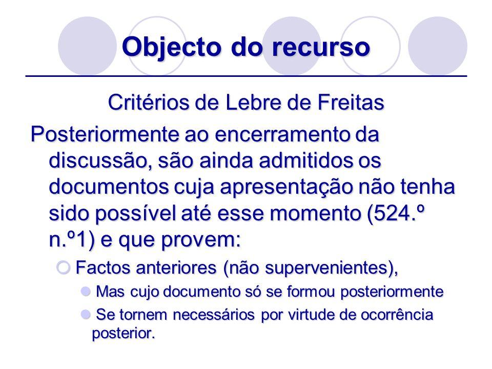 Critérios de Lebre de Freitas
