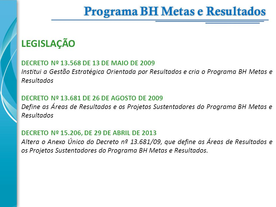Programa BH Metas e Resultados