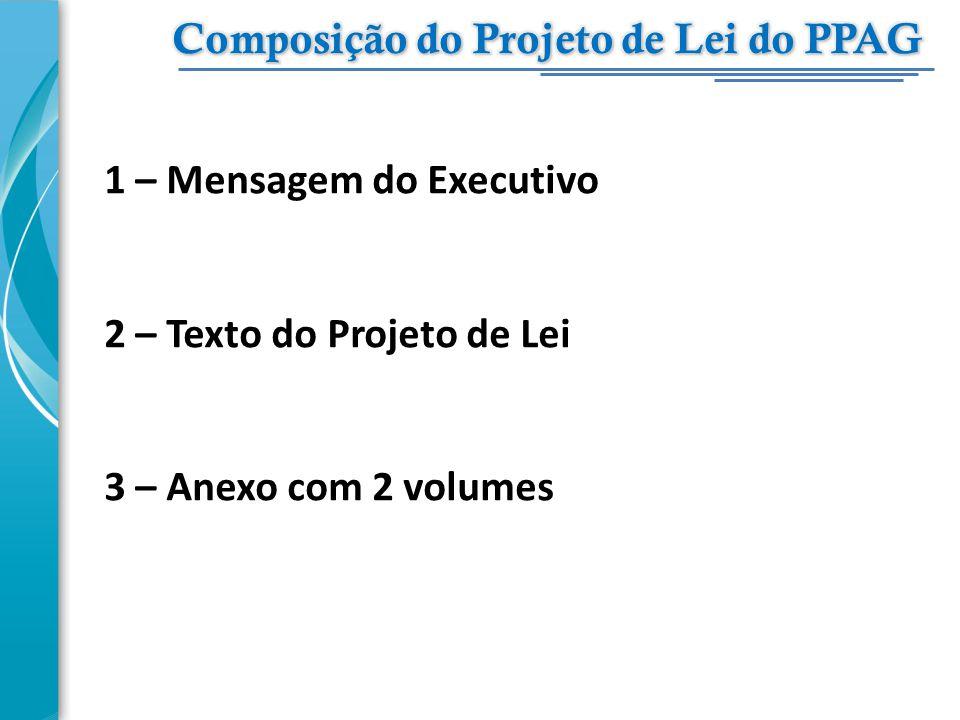 Composição do Projeto de Lei do PPAG