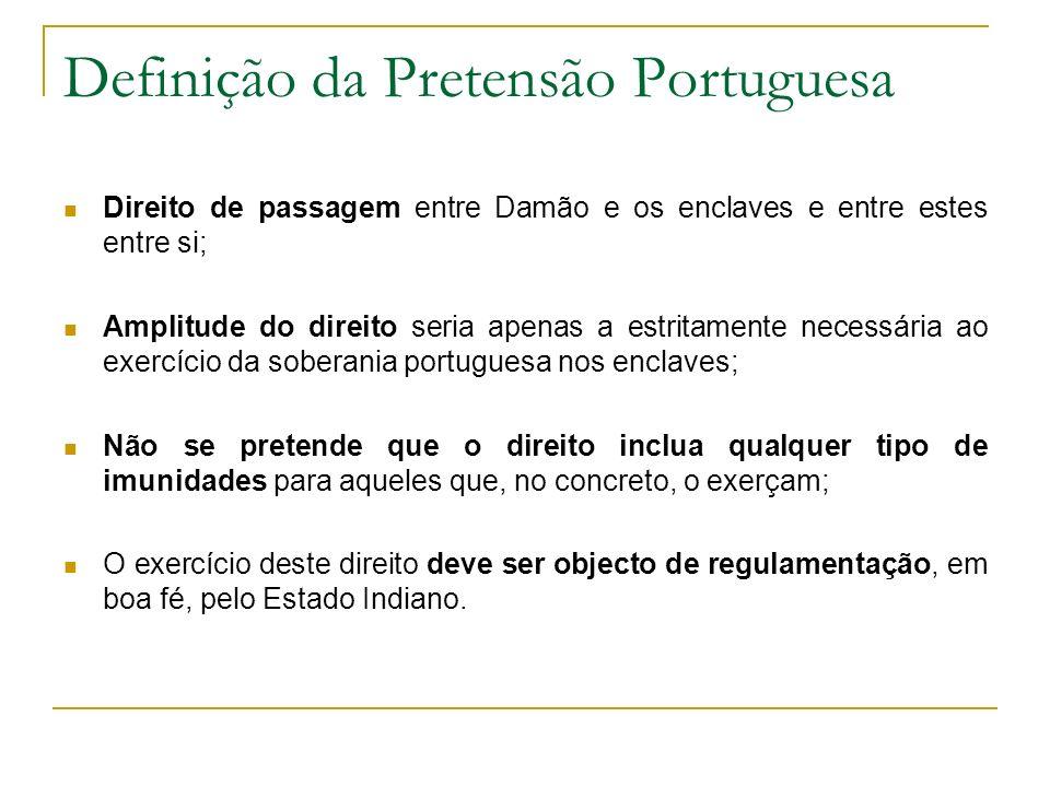Definição da Pretensão Portuguesa