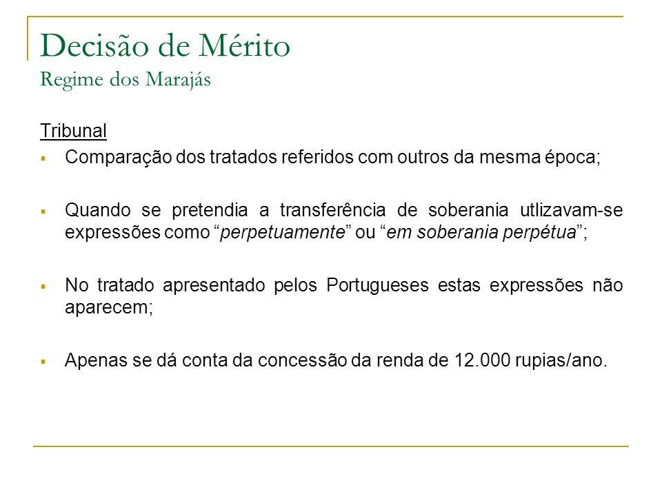Decisão de Mérito Regime dos Marajás