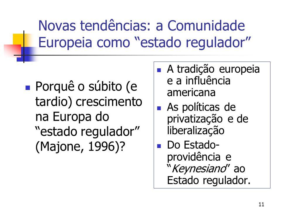 Novas tendências: a Comunidade Europeia como estado regulador
