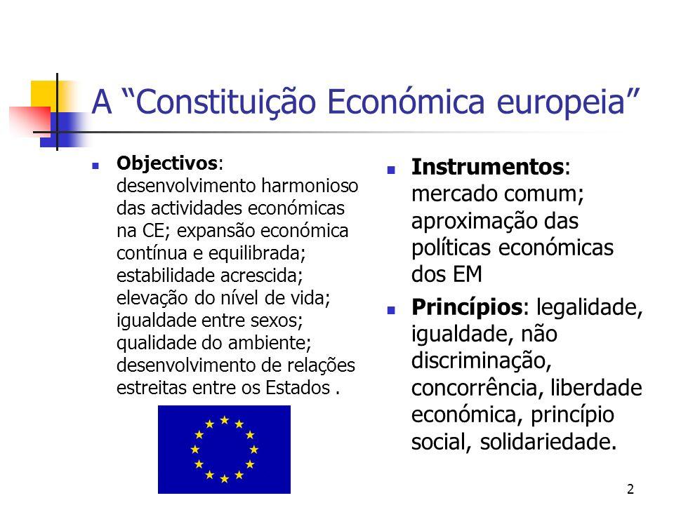 A Constituição Económica europeia