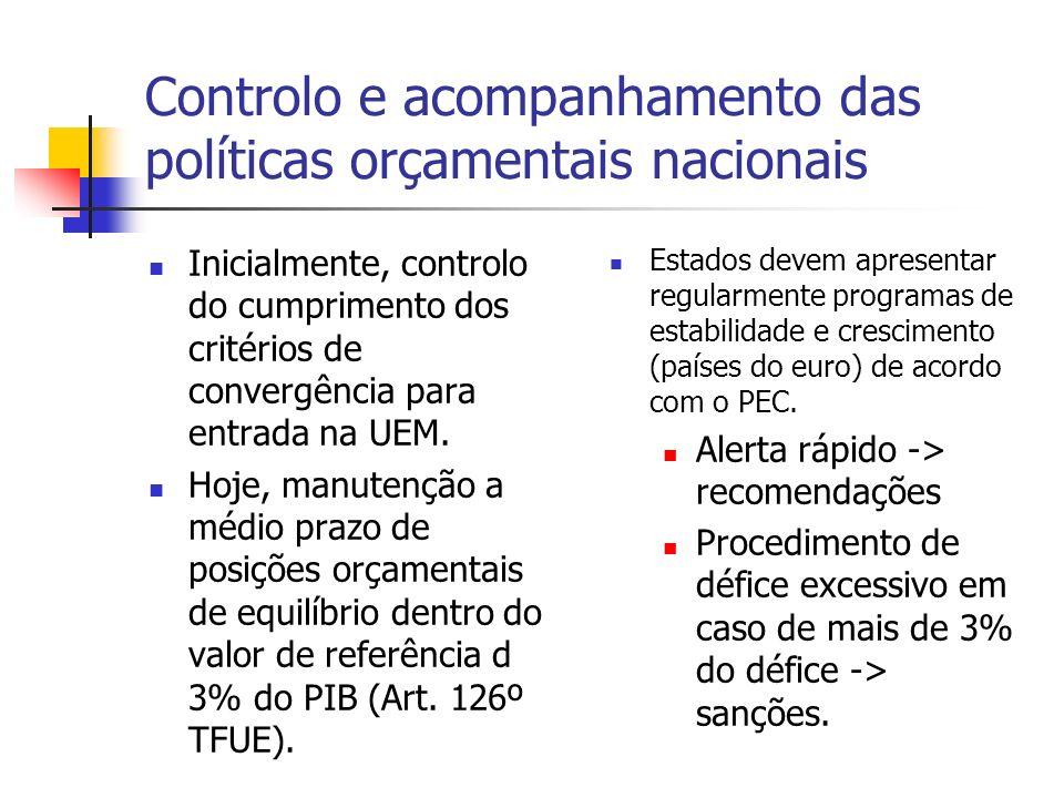 Controlo e acompanhamento das políticas orçamentais nacionais