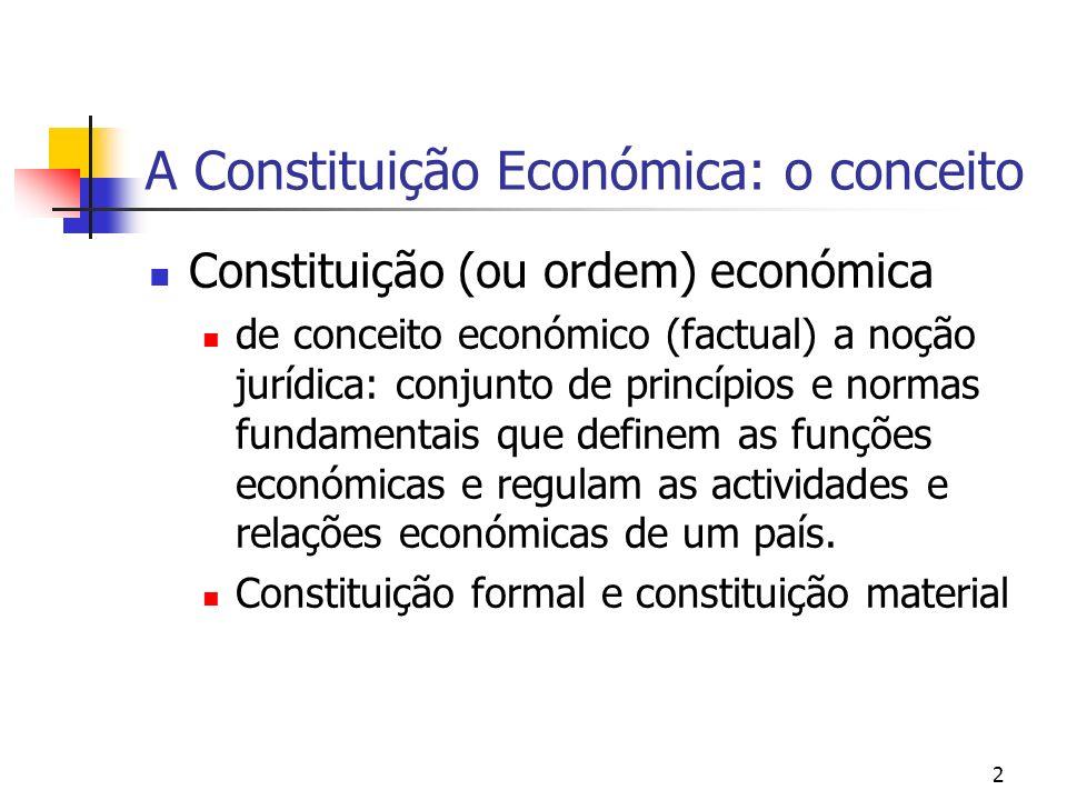 A Constituição Económica: o conceito