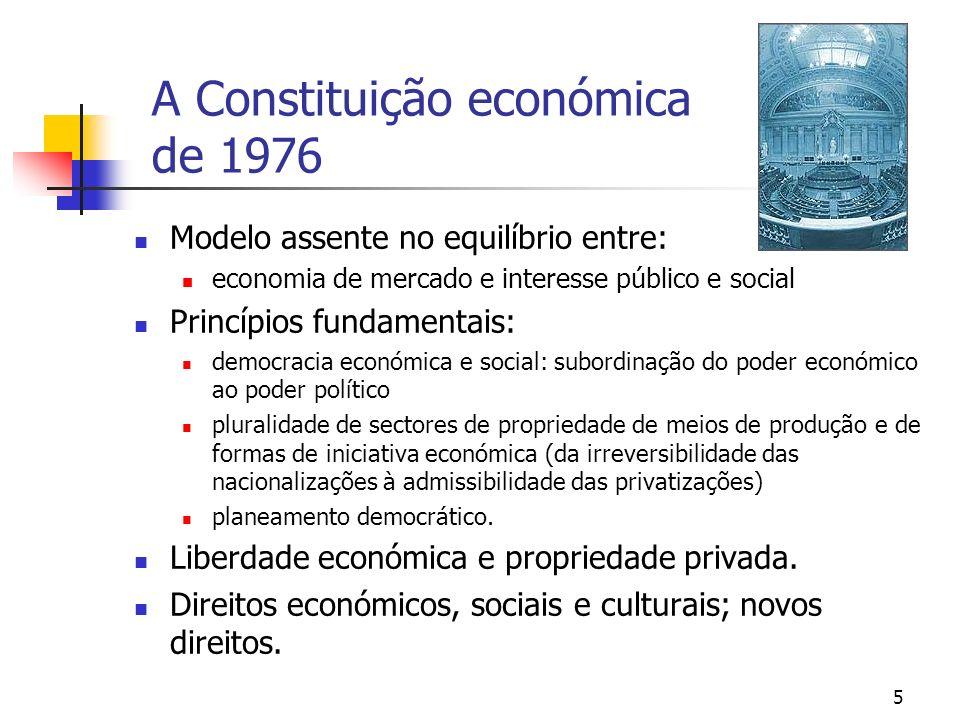 A Constituição económica de 1976