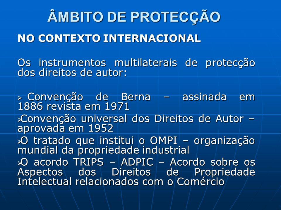 ÂMBITO DE PROTECÇÃO NO CONTEXTO INTERNACIONAL