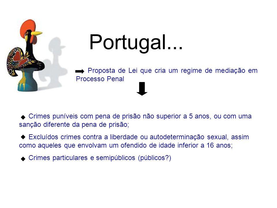 Portugal...Proposta de Lei que cria um regime de mediação em Processo Penal.