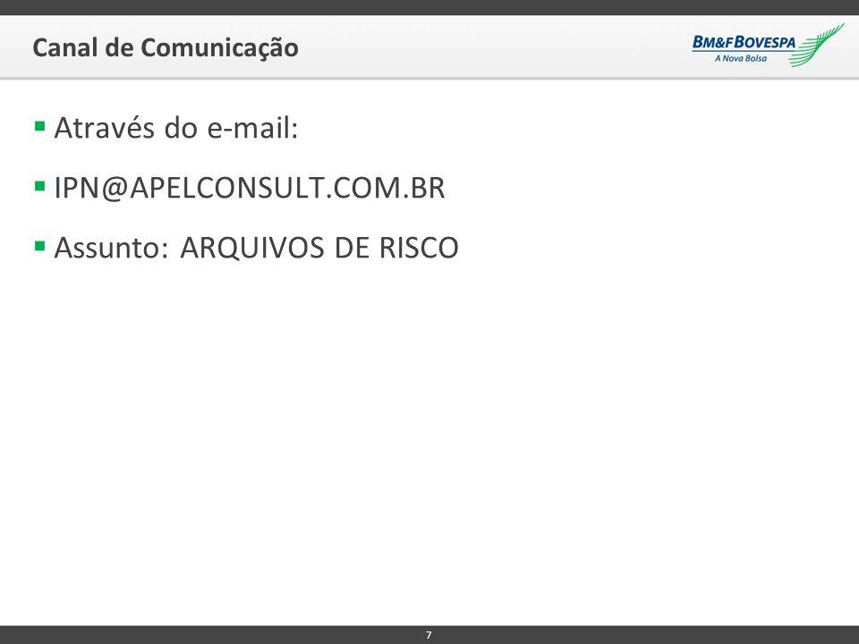 Assunto: ARQUIVOS DE RISCO