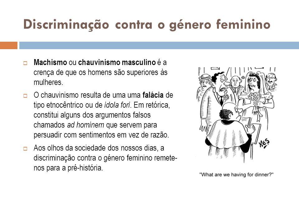 Discriminação contra o género feminino