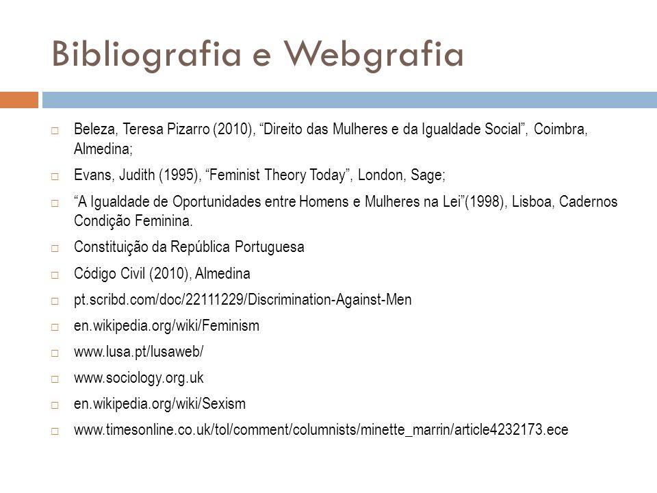 Bibliografia e Webgrafia