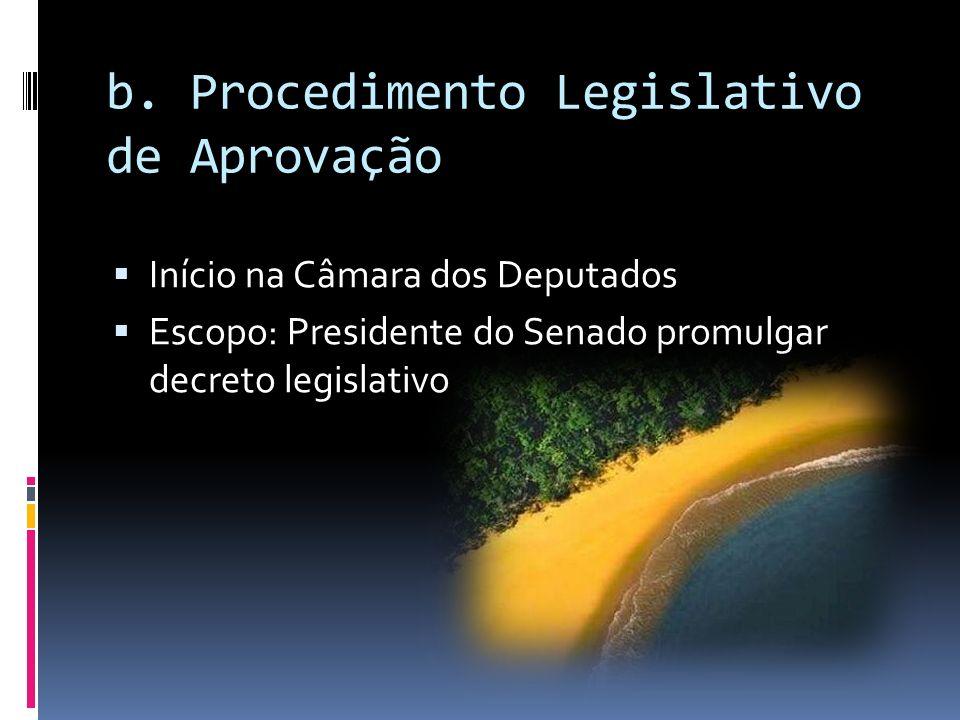 b. Procedimento Legislativo de Aprovação
