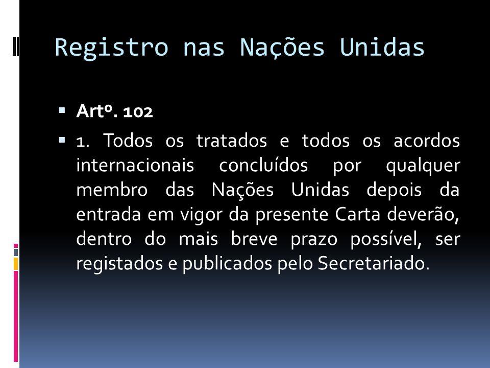Registro nas Nações Unidas