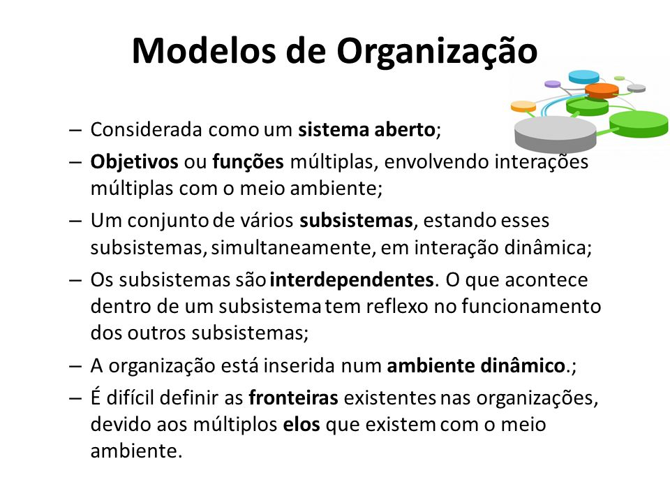 Modelos de Organização