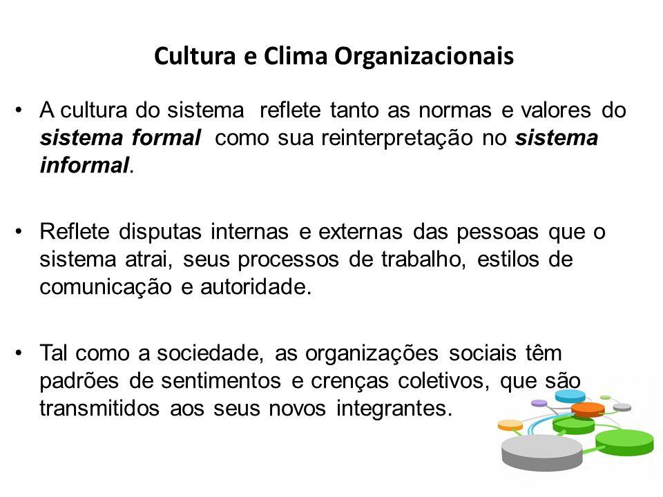 Cultura e Clima Organizacionais