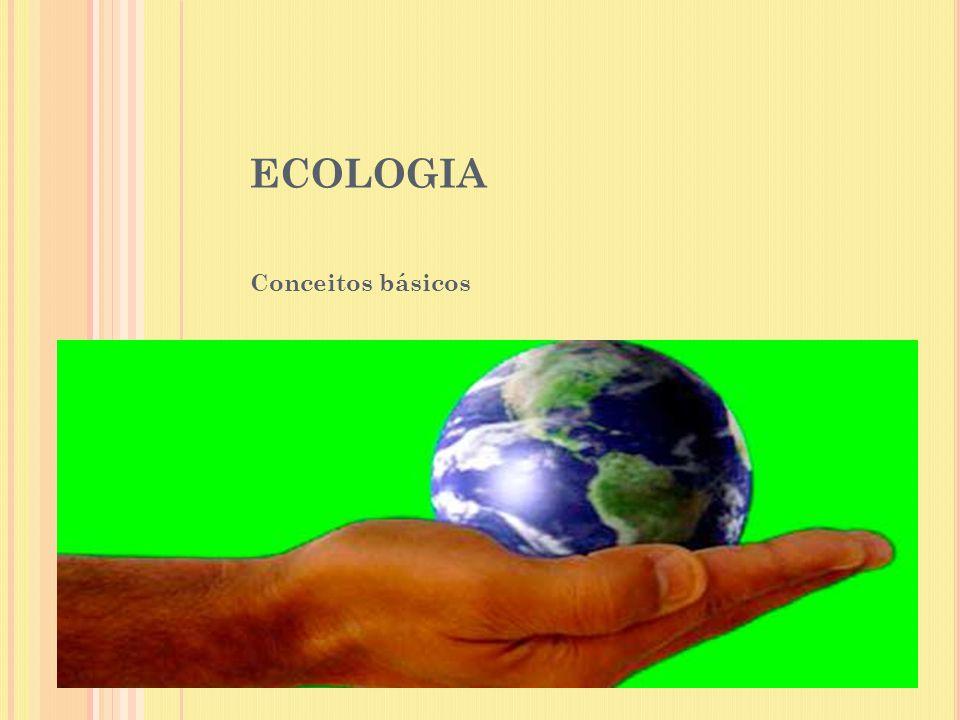 ECOLOGIA Conceitos básicos