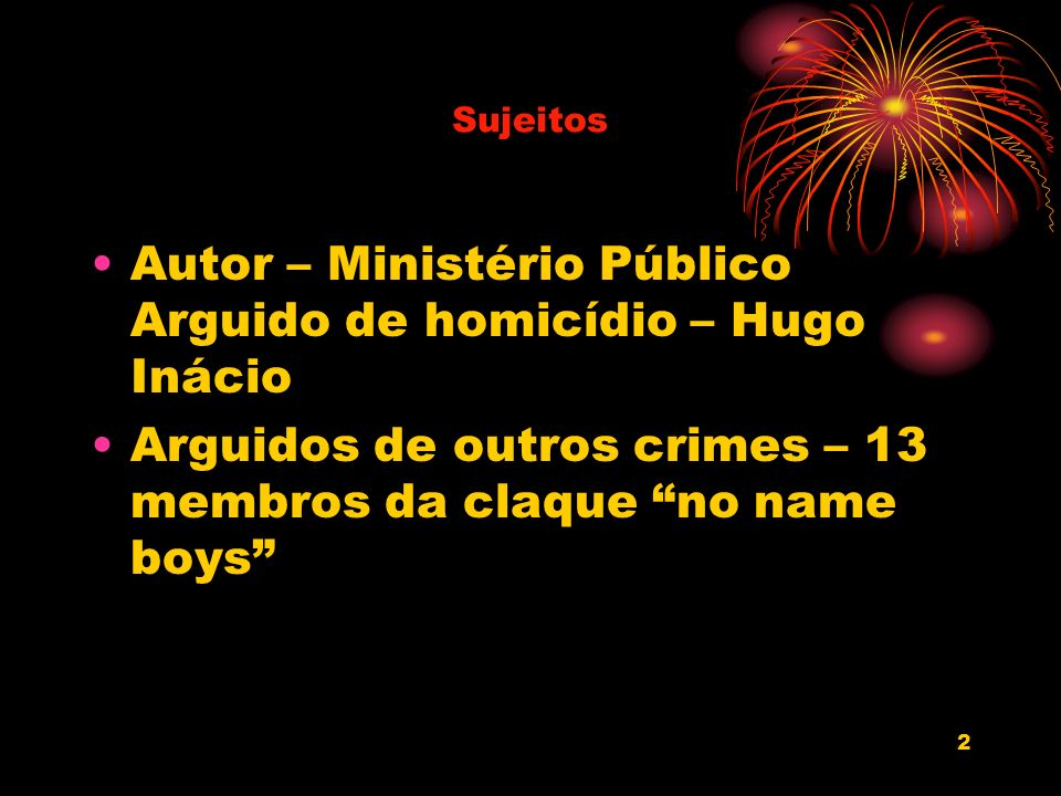 Autor – Ministério Público Arguido de homicídio – Hugo Inácio