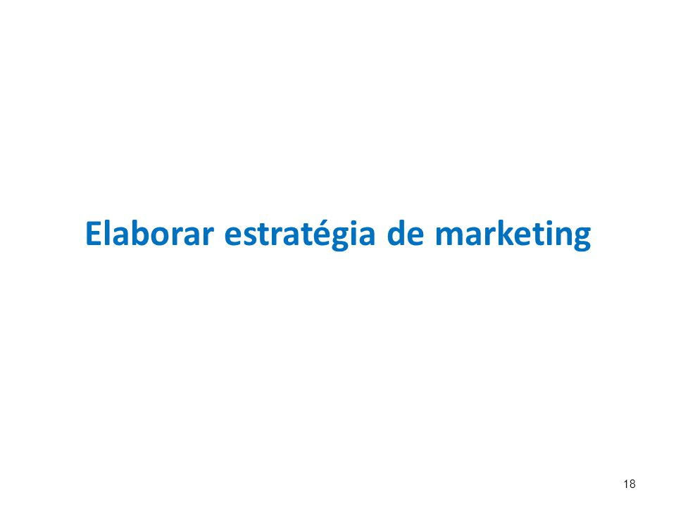Elaborar estratégia de marketing