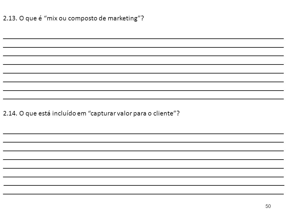 2.13. O que é mix ou composto de marketing