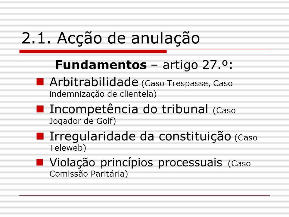 Fundamentos – artigo 27.º: