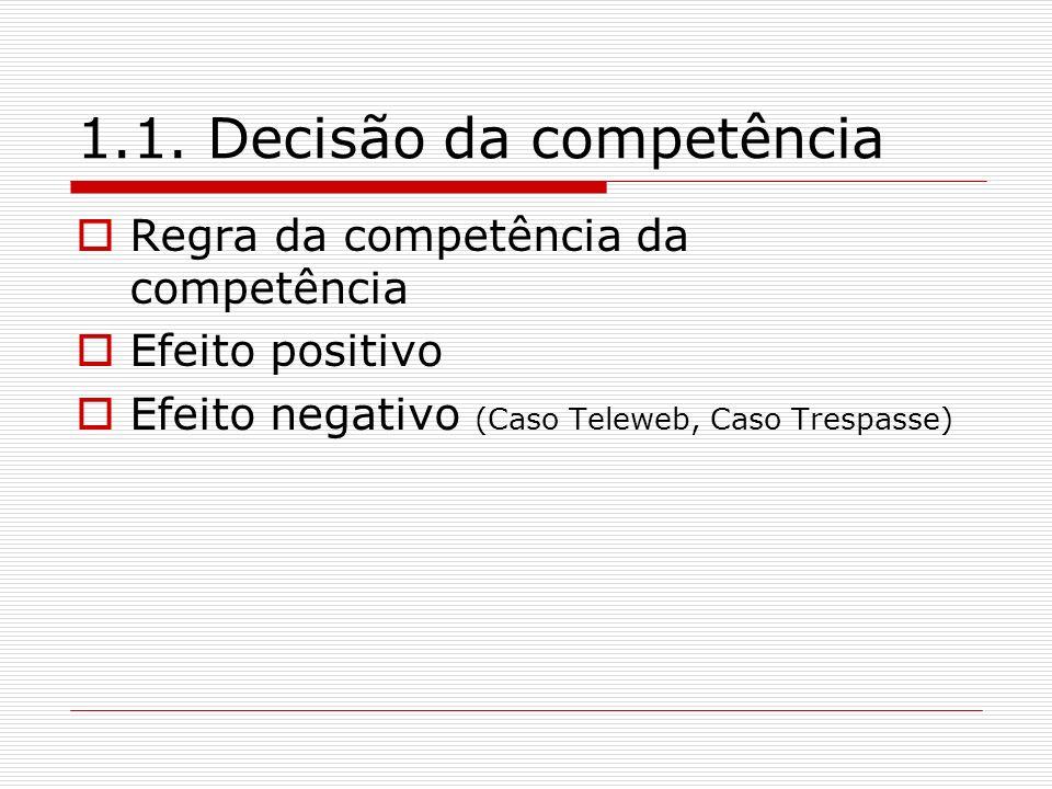 1.1. Decisão da competência