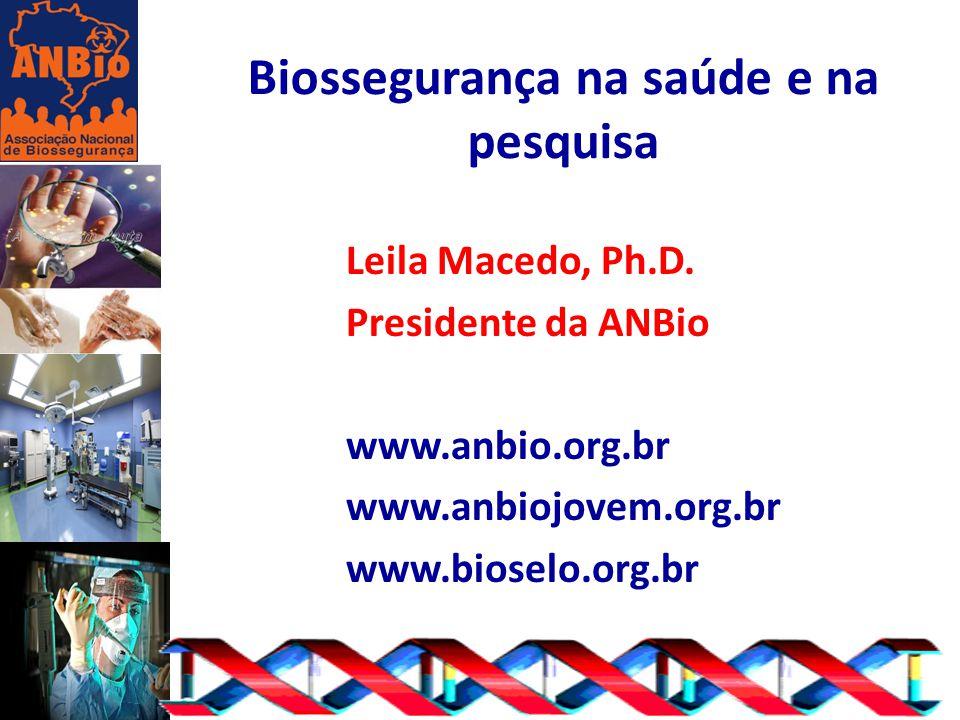 Biossegurança na saúde e na pesquisa