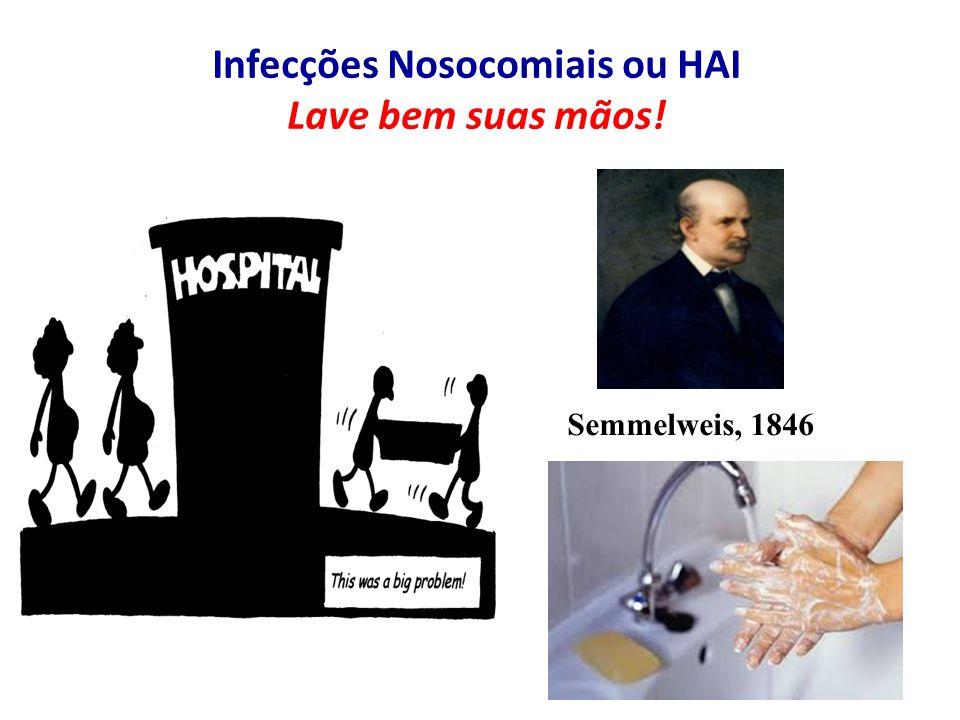 Infecções Nosocomiais ou HAI Lave bem suas mãos!