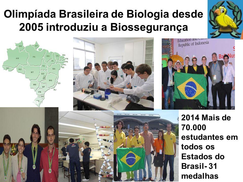 Olimpíada Brasileira de Biologia desde 2005 introduziu a Biossegurança