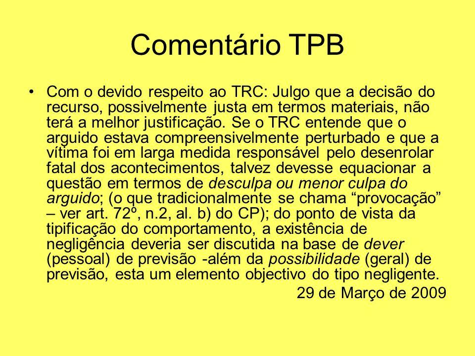 Comentário TPB