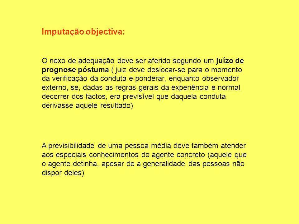 Imputação objectiva: