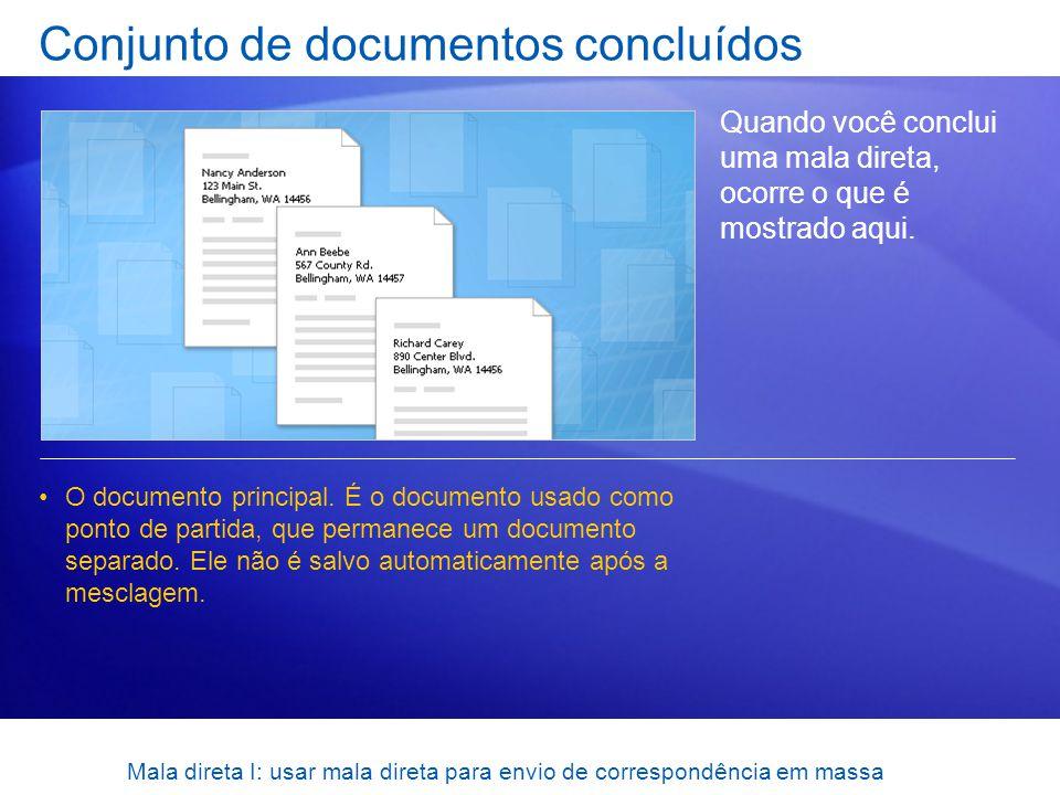 Conjunto de documentos concluídos