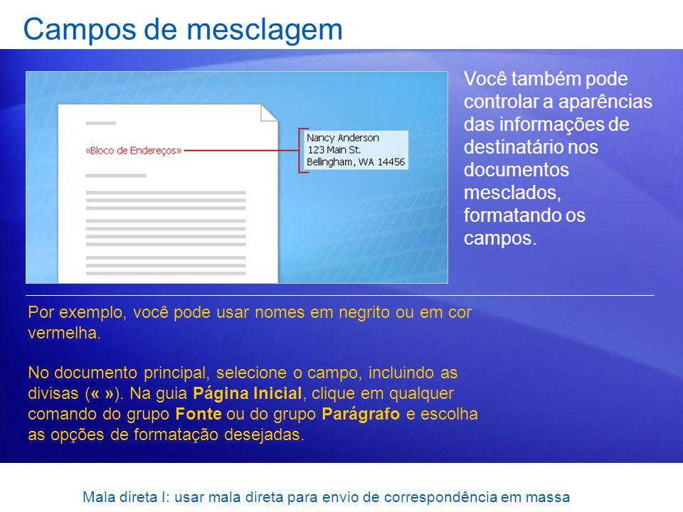 Mala direta I: usar mala direta para envio de correspondência em massa