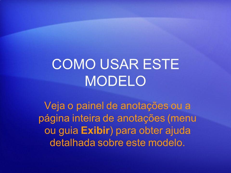 Usando este modelo