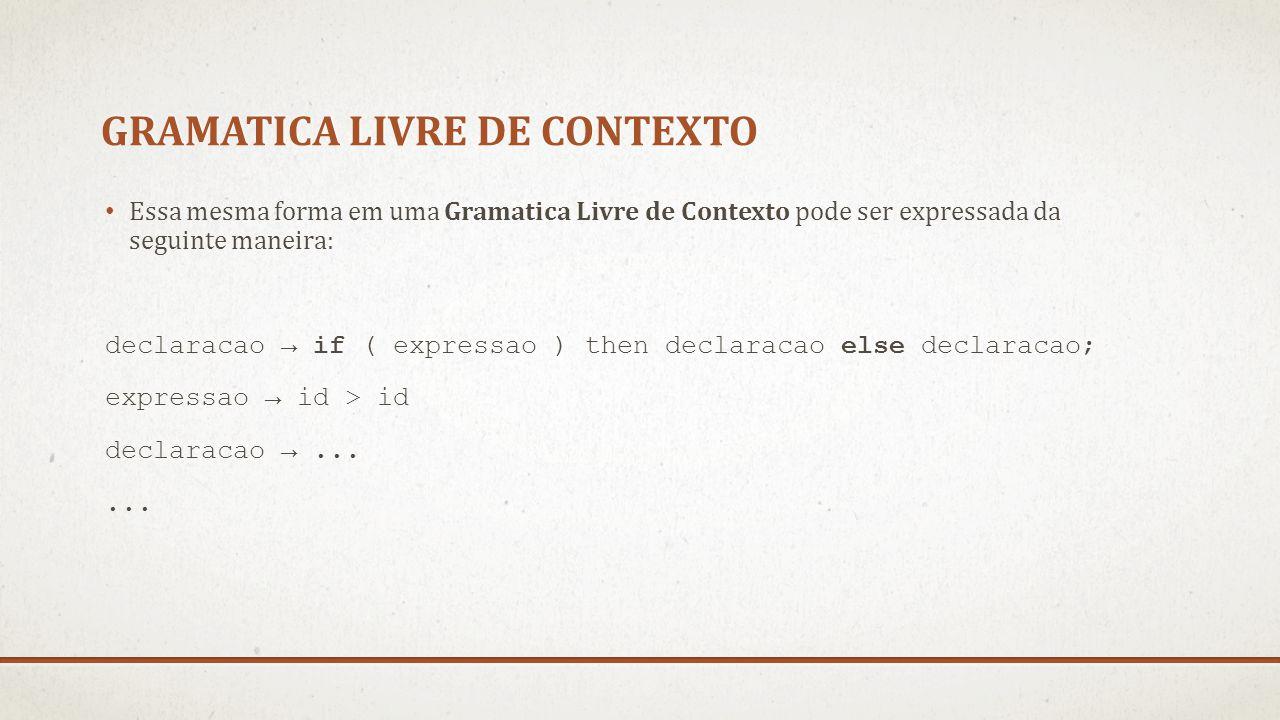 Gramatica livre de contexto