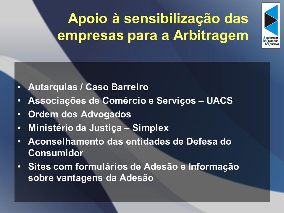 Apoio à sensibilização das empresas para a Arbitragem