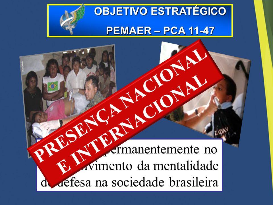 PRESENÇA NACIONAL E INTERNACIONAL