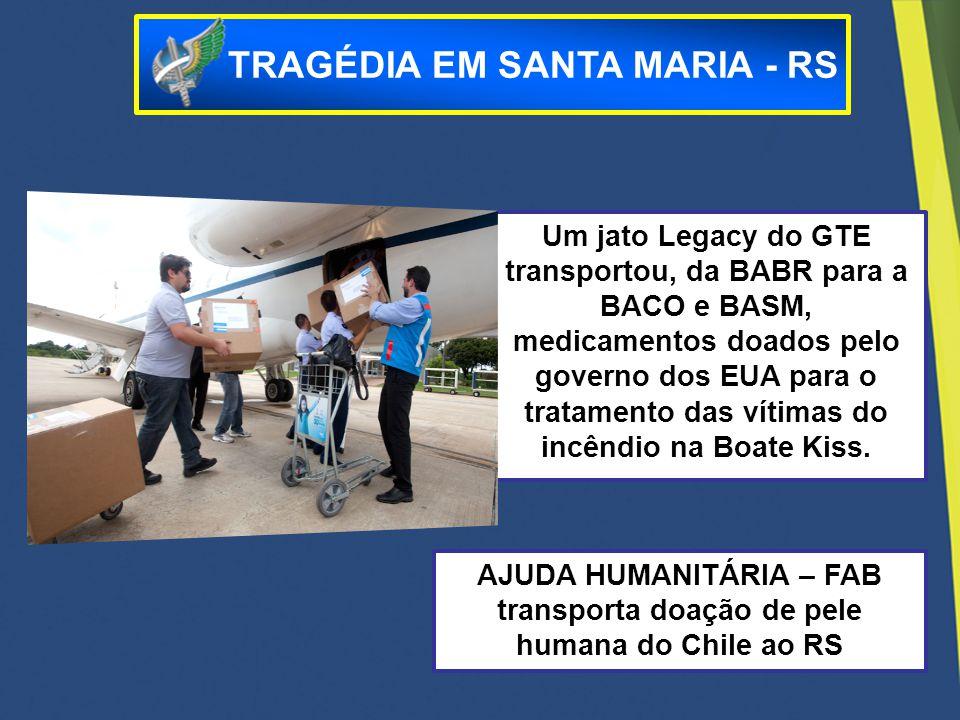 FAB transporta doação de pele humana do Chile ao Rio Grande do Sul