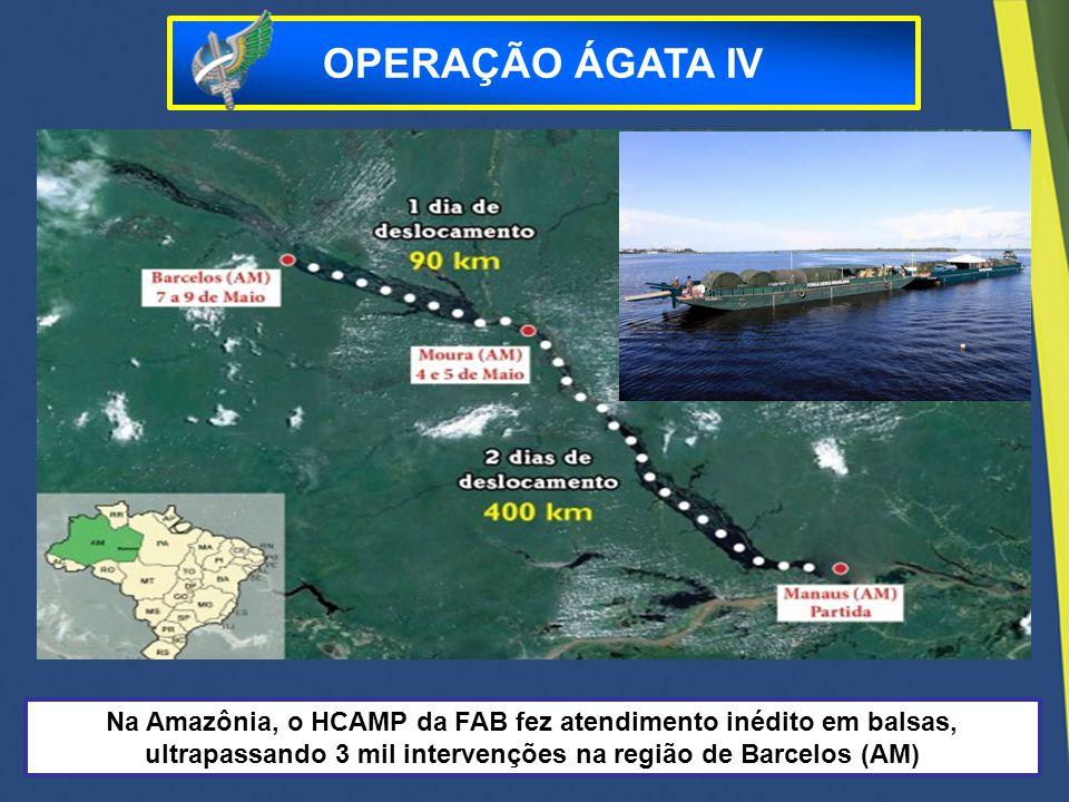 OPERAÇÃO ÁGATA IV Na Amazônia, o HCAMP da FAB fez atendimento inédito em balsas, ultrapassando 3 mil intervenções na região de Barcelos (AM)